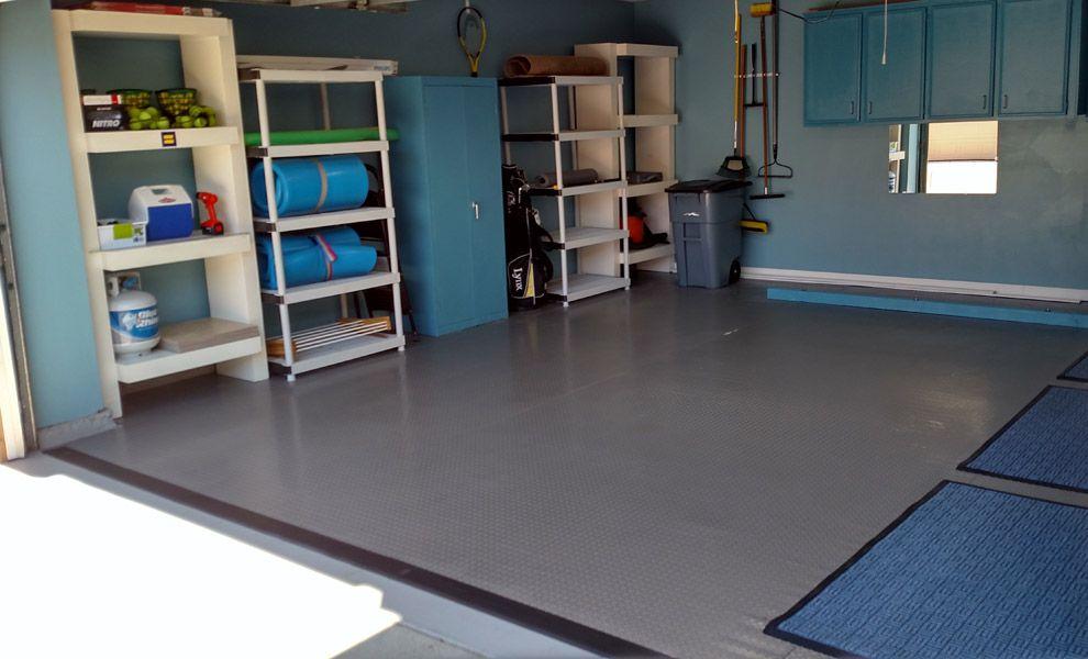 Diamond Nitro Rolls Premium Grade Vinyl Garage Floor Rolls Vinyl Garage Flooring Diy Flooring Garage Makeover
