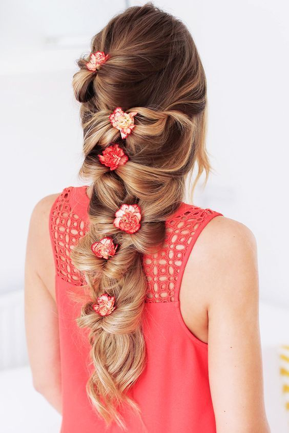 Long Hair Womens Styles Thick Voluminous Long Bow Braid With Dirty