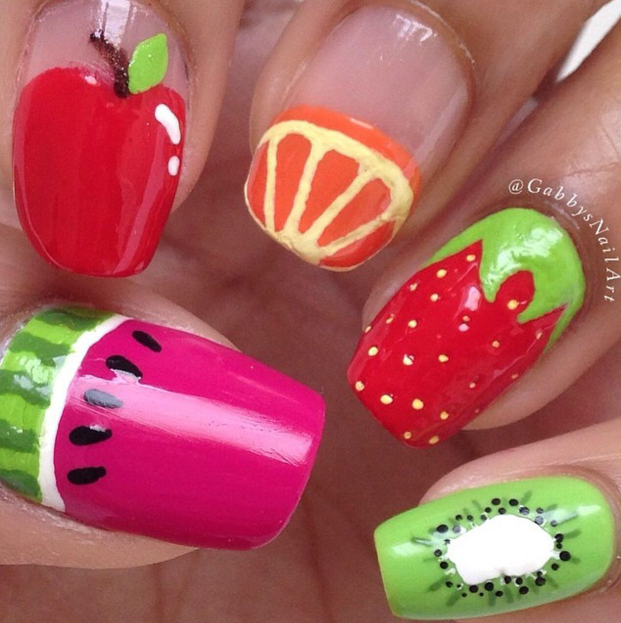 Tutti Fruity Nails   hati-hati, it\'s a party!   Pinterest   Nail ...