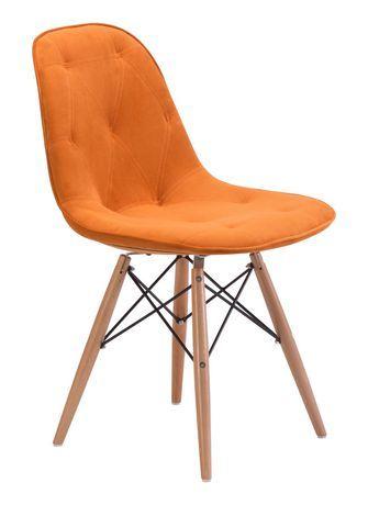 Zuo Modern One Piece Probability Orange Dining Chair Orange