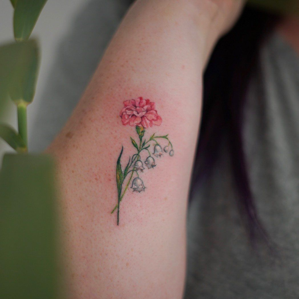 Lily of the valley tattoo designs