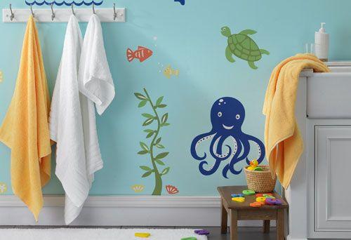 Sea Turtle Nursery Decor Bathroom Wall