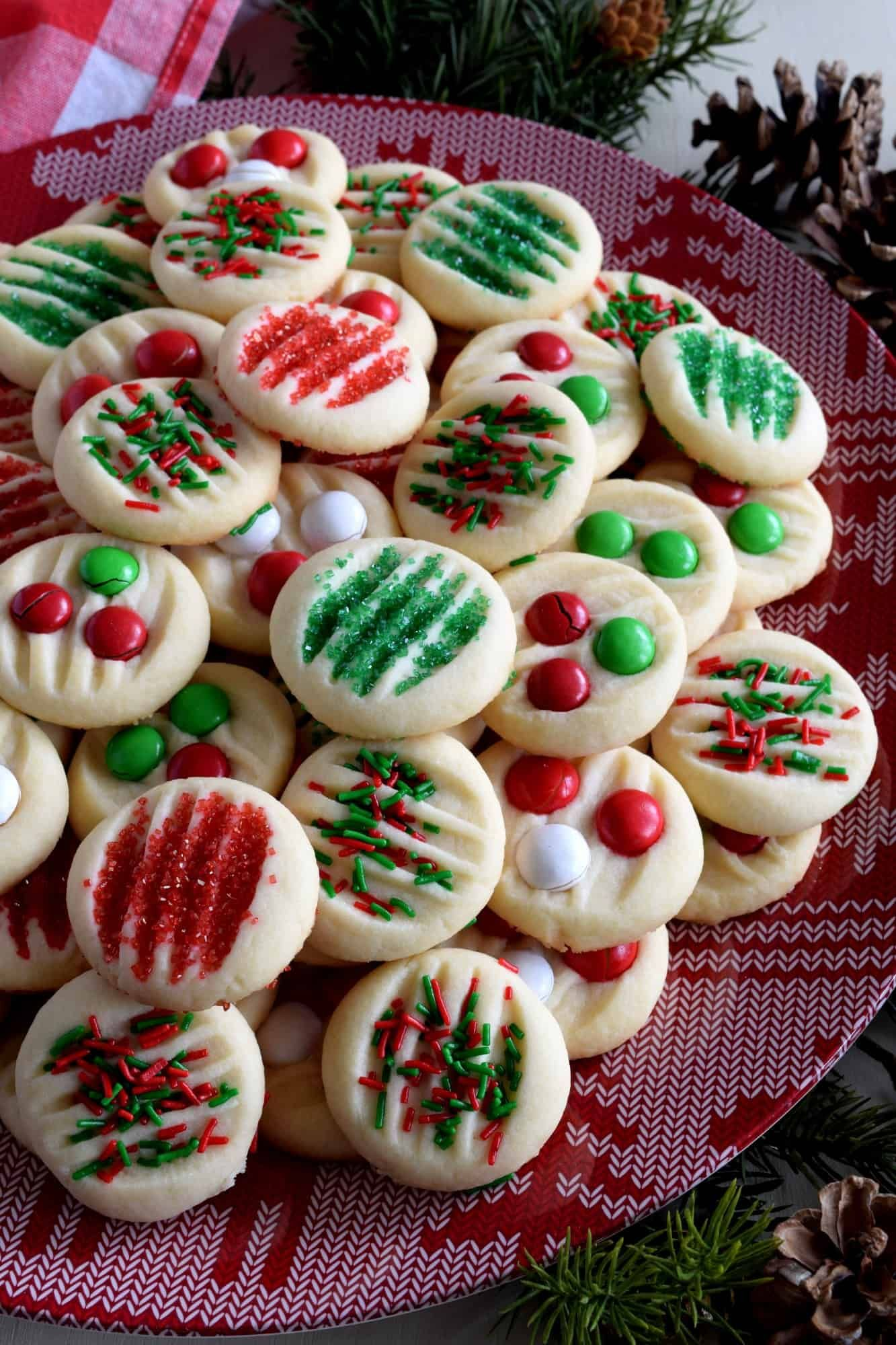 Whipped Christmas Shortbread - Lord Byron's Kitchen #whippedshortbreadcookies