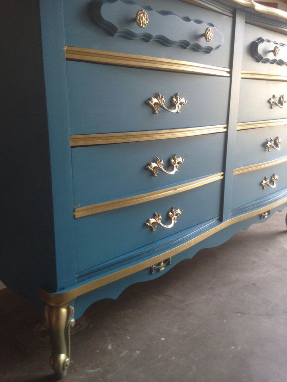 SOLDFrench provincial all wood 6 drawer dresser by Lovethispiece