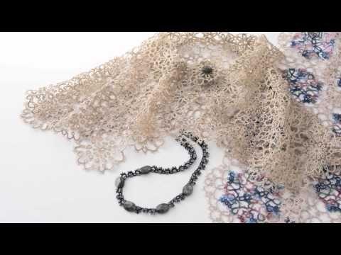 ニードルタティングレースのダブルピコの編み方 - YouTube