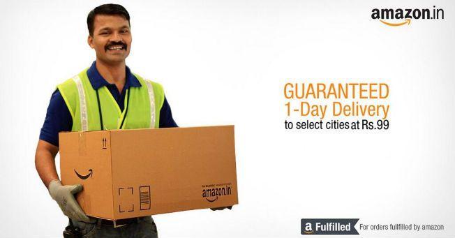 Amazon Promises One Day Guaranteed Shipping In India Amazon Coupons Amazon Promo Codes Coupons