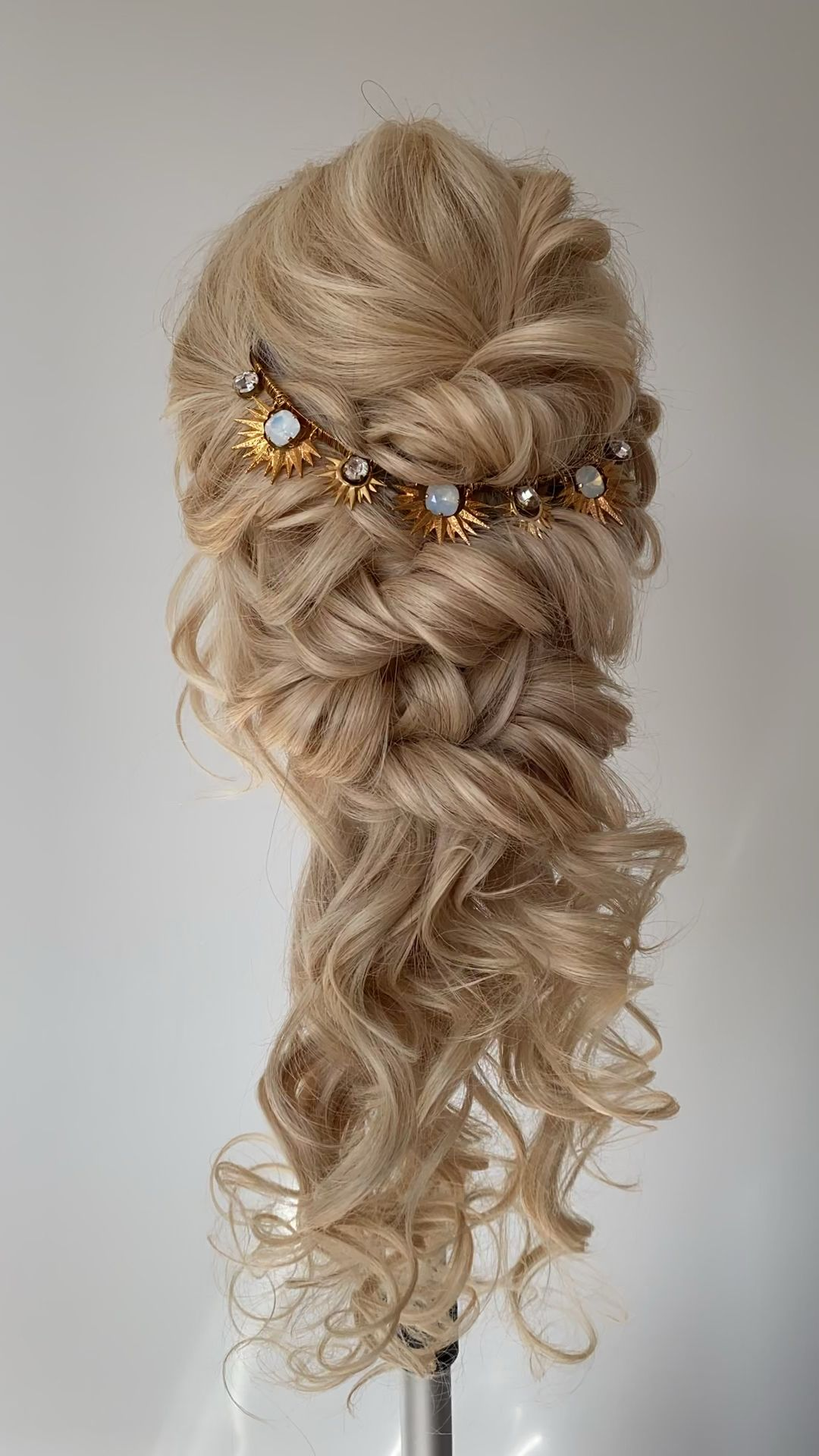 Romantic bridal hair - loose down style