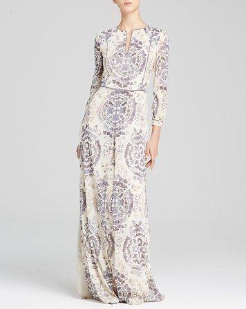 Tory Burch Sabrina Printed Silk Caftan | Bloomingdale's