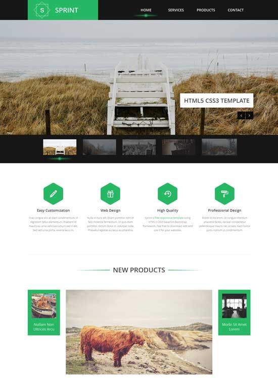 New Free Responsive Html Css Templates Are WellDesigned Layout