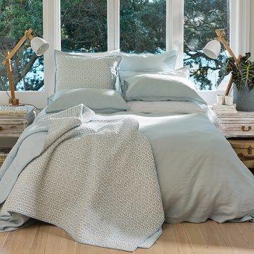 Loft Linen Duvet Set Wallace Cotton, Organic Linen Bedding Nz