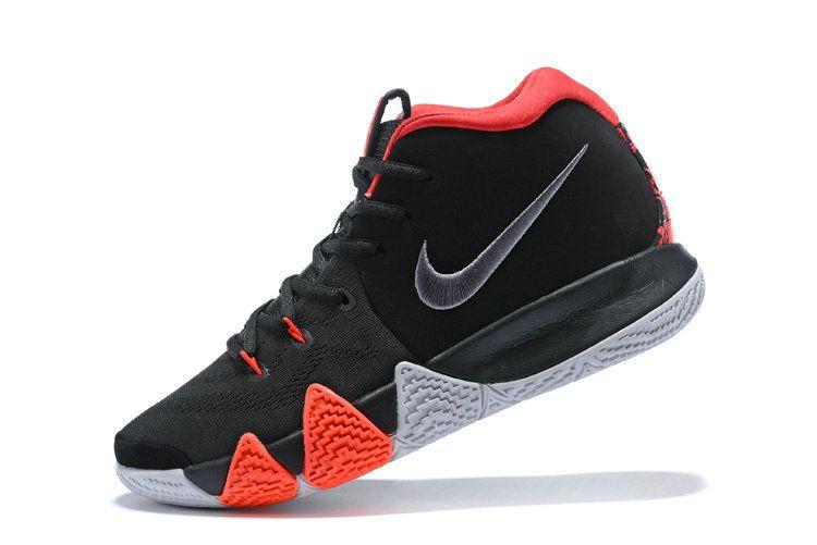 new concept ec8d9 a4ce9 2018 Real Nike Kyrie 4 2018 Mens Basketball Shoes Black Crimson 943806-005