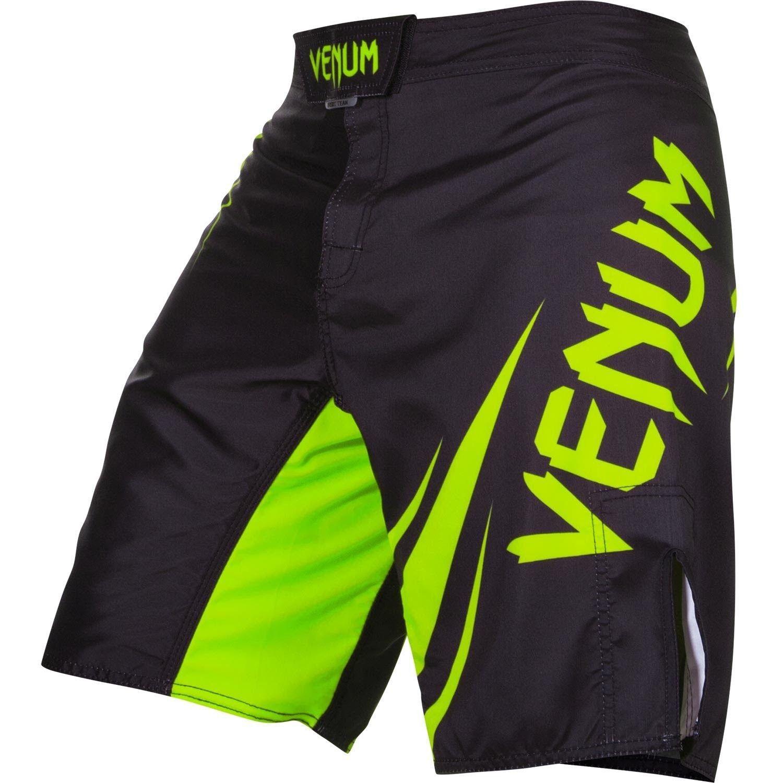 Venum Challenger Fight Shorts Black Green Fight Shorts Mma Shorts Grappling Shorts