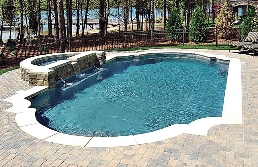 Gunite Pool With Spa And Basketball Goal | Residential Pools | Pinterest |  Gunite Pool, Basketball Goals And Spa