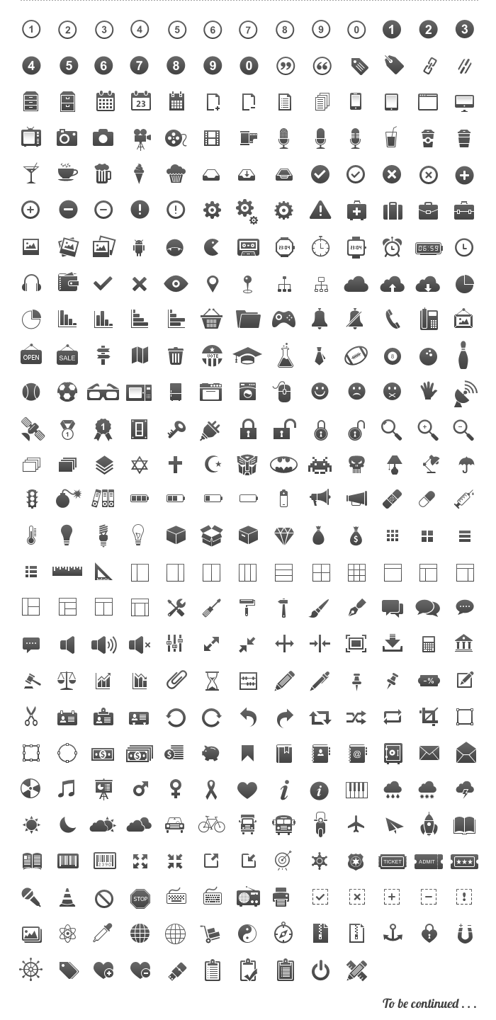 30 Free Icon sets for graphic and web designers Download