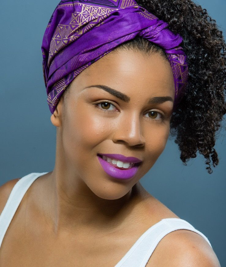 Naomi Wax Print Head Wrap Hair Styles Head Wraps