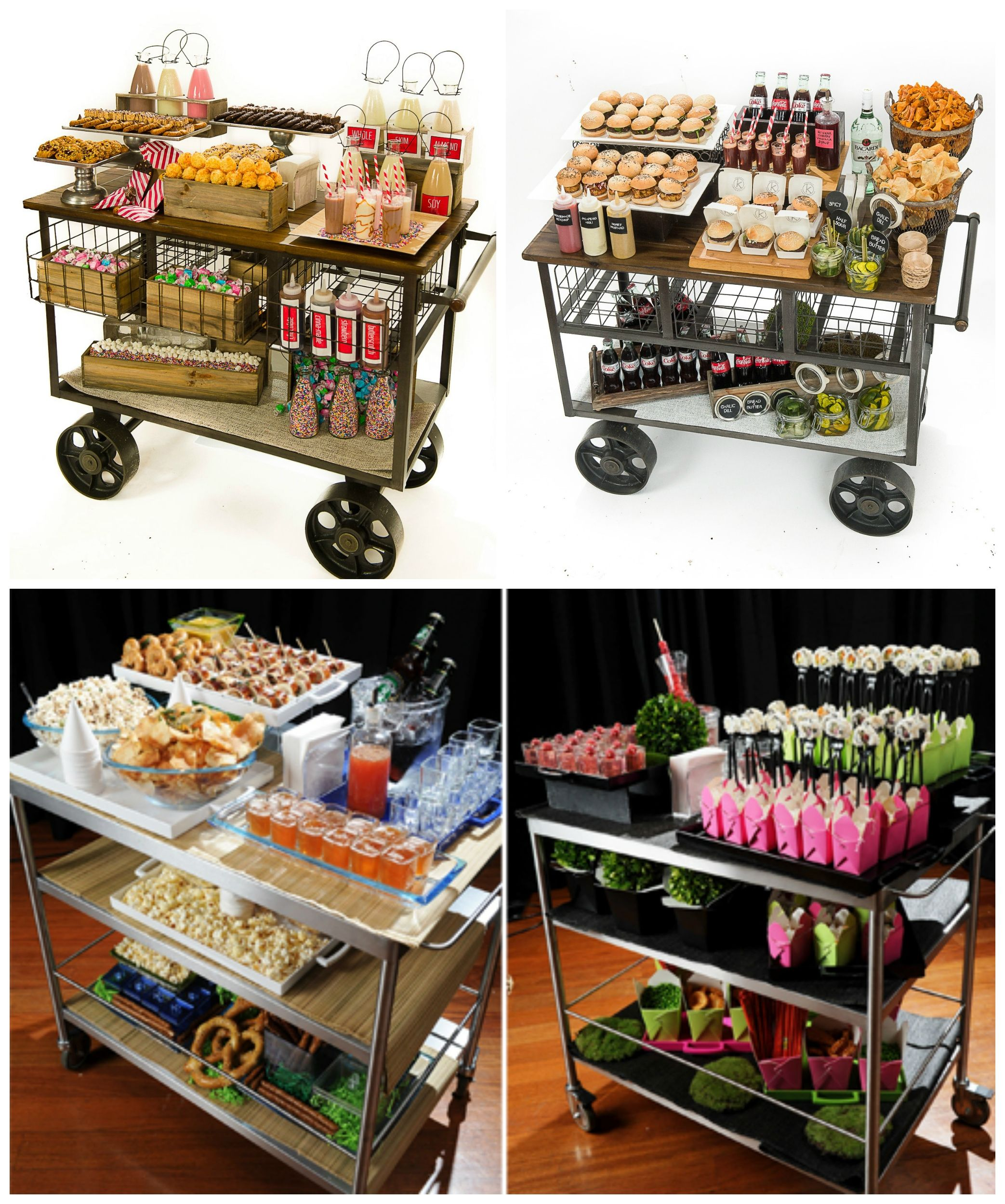 Wedding Reception Food Station Ideas: Strolling Stations...great Idea For Any Event #barmitzvah