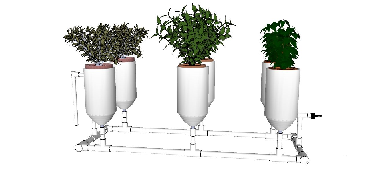 Complete 2 liter bottle hydroponic system one of better design captivity of garden indoor - Hydroponic container gardening ...