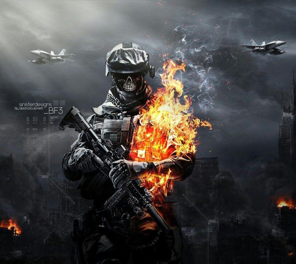 Battlefield 3 Military Wallpaper Skull Wallpaper Iphone 5s Wallpaper