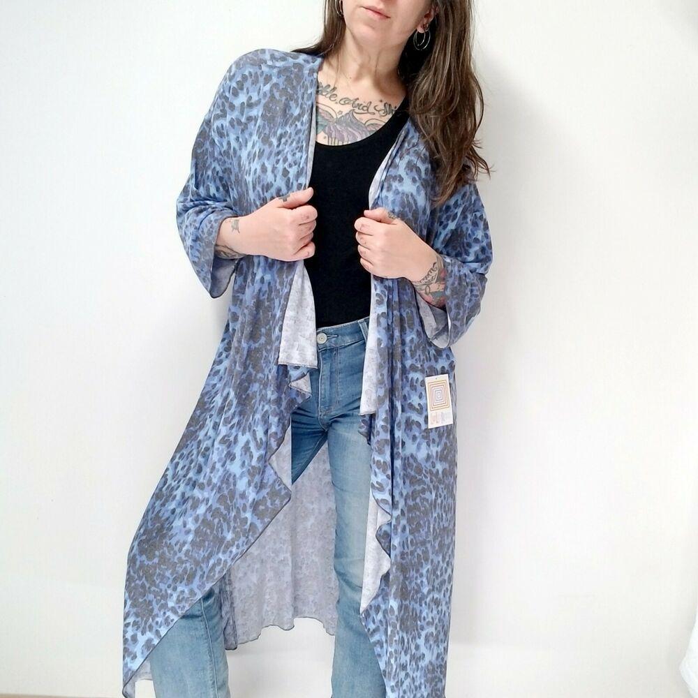 New Look Ange Animal Kimono Gilet Femme