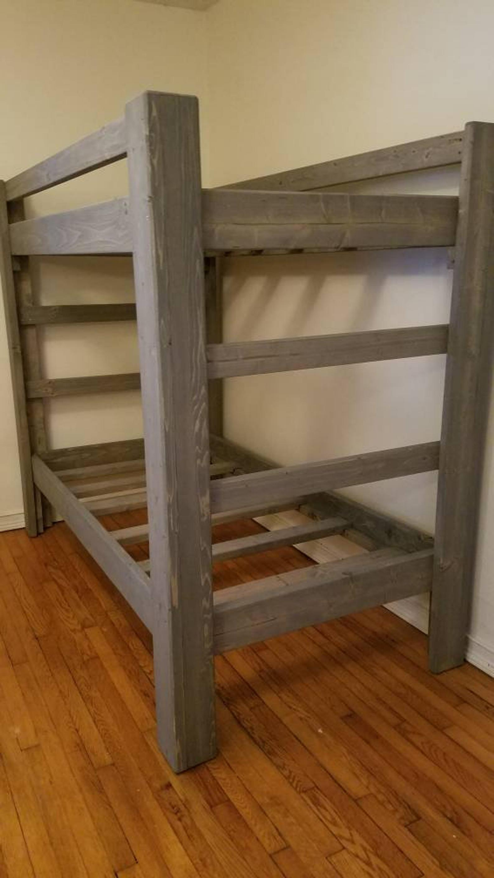 Pin By Shelby Hatcher On Diy In 2020 Wood Bunk Beds Solid Wood