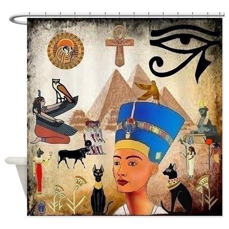 Egyptian Shower Curtain On Cafepress Com Egyptian Design