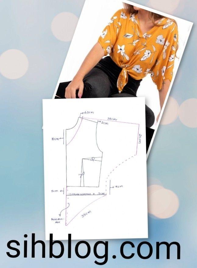 Molde de blusa corto adelante y largo atras, | Confección de