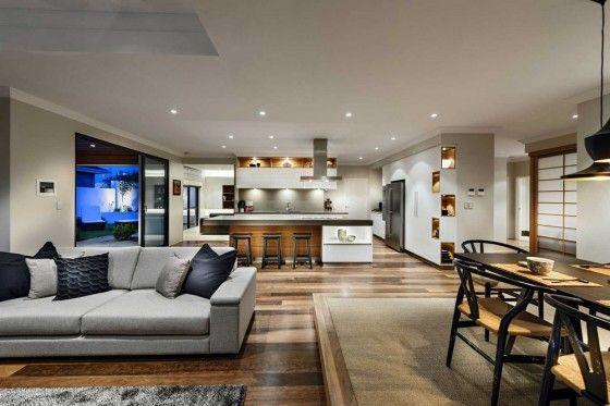 Diseño de casa de un piso estilo oriental con planos y decoración de ...