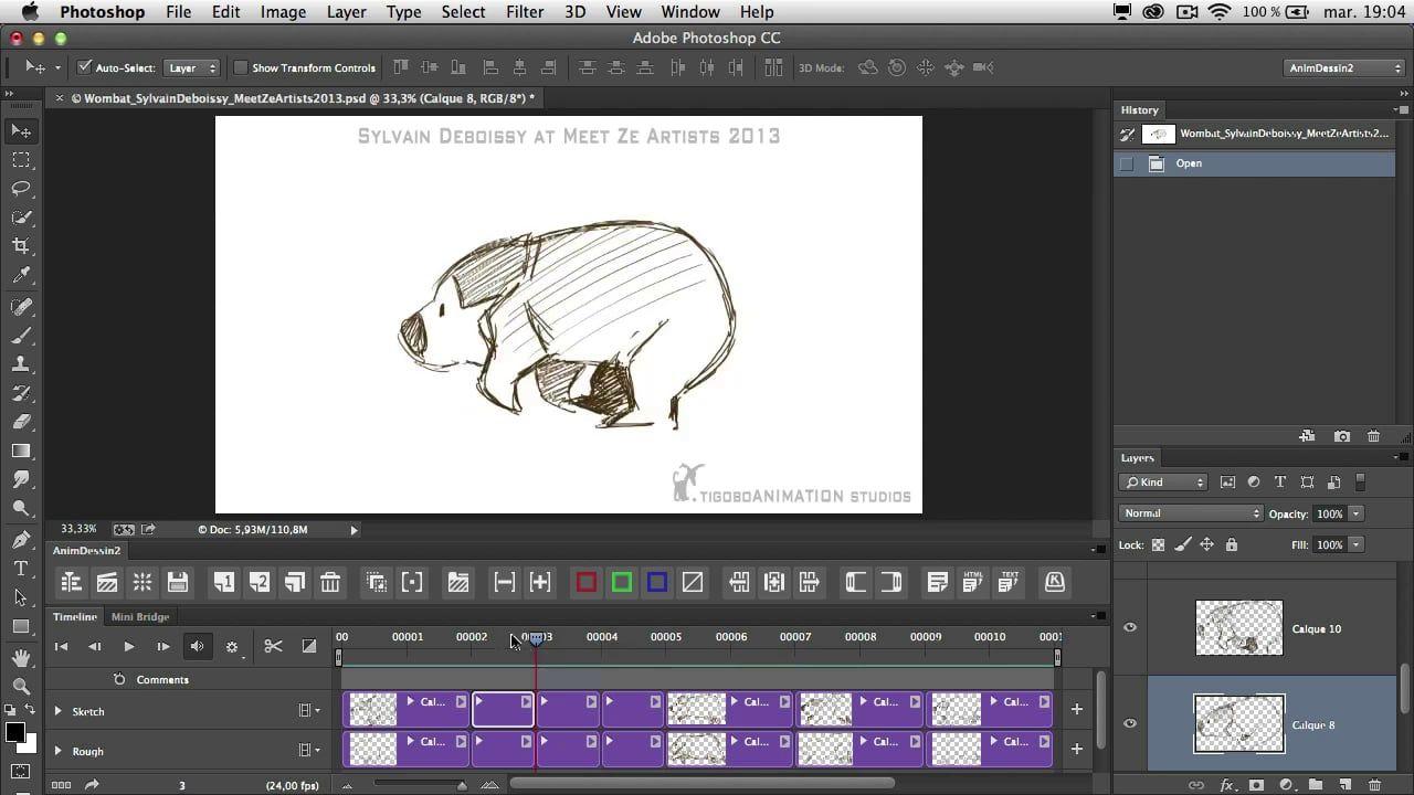 En Animdessin2 2 0 0 For Photoshop Cc Animation In Photoshop Photoshop Frame By Frame Animation