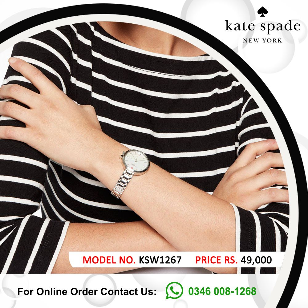 Kate Spade New York Womens 34mm Park Row Watch.  Model # KSW1267 Price Rs.49,000  #katespade #loveinspades #BrandMerchants #AbouTime #pakistan #nishatemporium #PackagesMall #affordablewatches #fashion #photooftheday #instagood #love #Happiness #watchoftheday #instawatch #color  #giftideas #pakistanstreetstyle #pakistanfashion