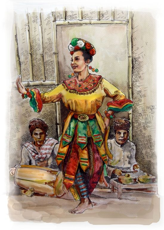 Traditional Dance Art Print