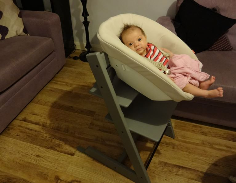 Sgabello Stokke ~ Stokke tripp trapp storm grey chair with newborn set note