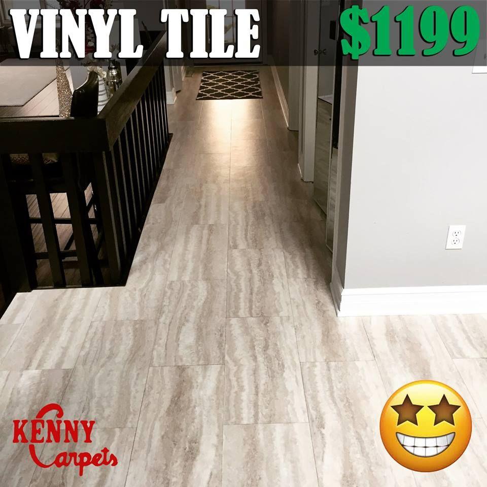 Vinyl tile looks just like ceramic for only get custom