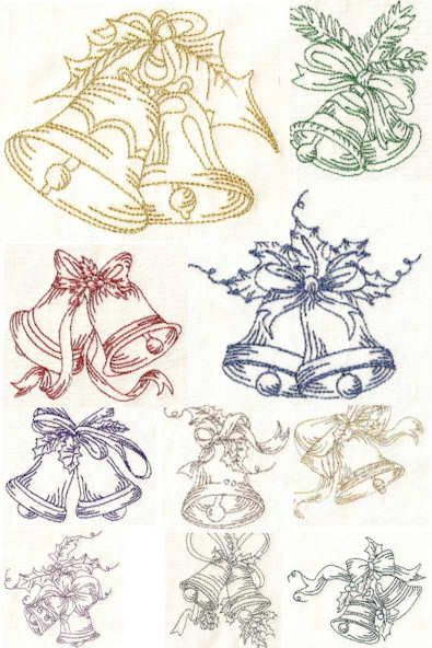Bell Free Standing Lace Embroidery Designs Christmas Pinterest