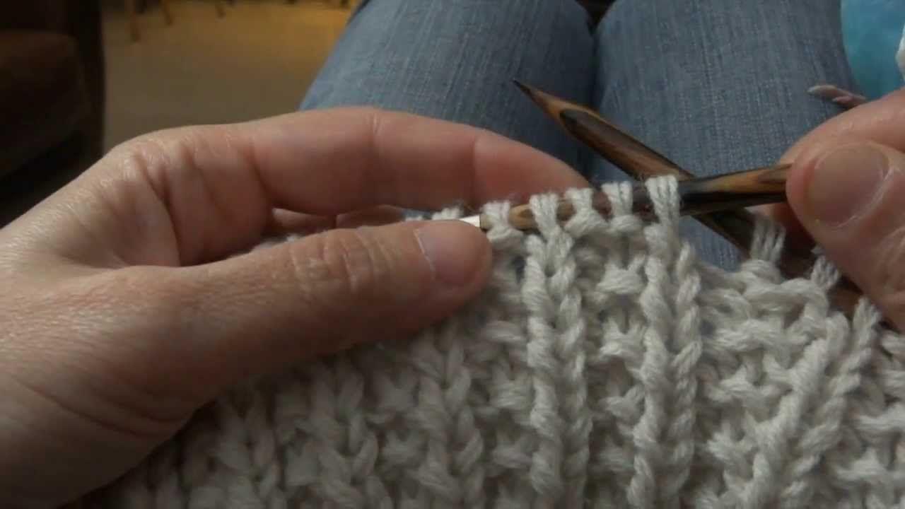 comment faire la maille anglaise au tricot