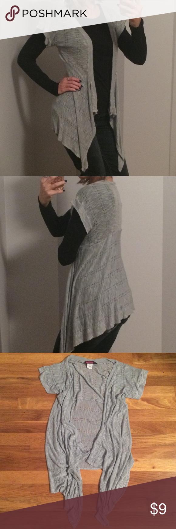 Short Sleeve Cardigan Wrap Sweater | Short sleeves, Wraps and ...