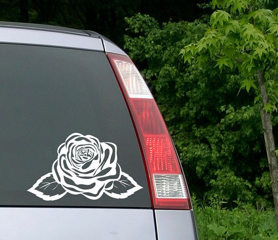 Rose decal rose sticker car decal flower decal laptop sticker rose window decal yeti decal monogram decal custom decal girls