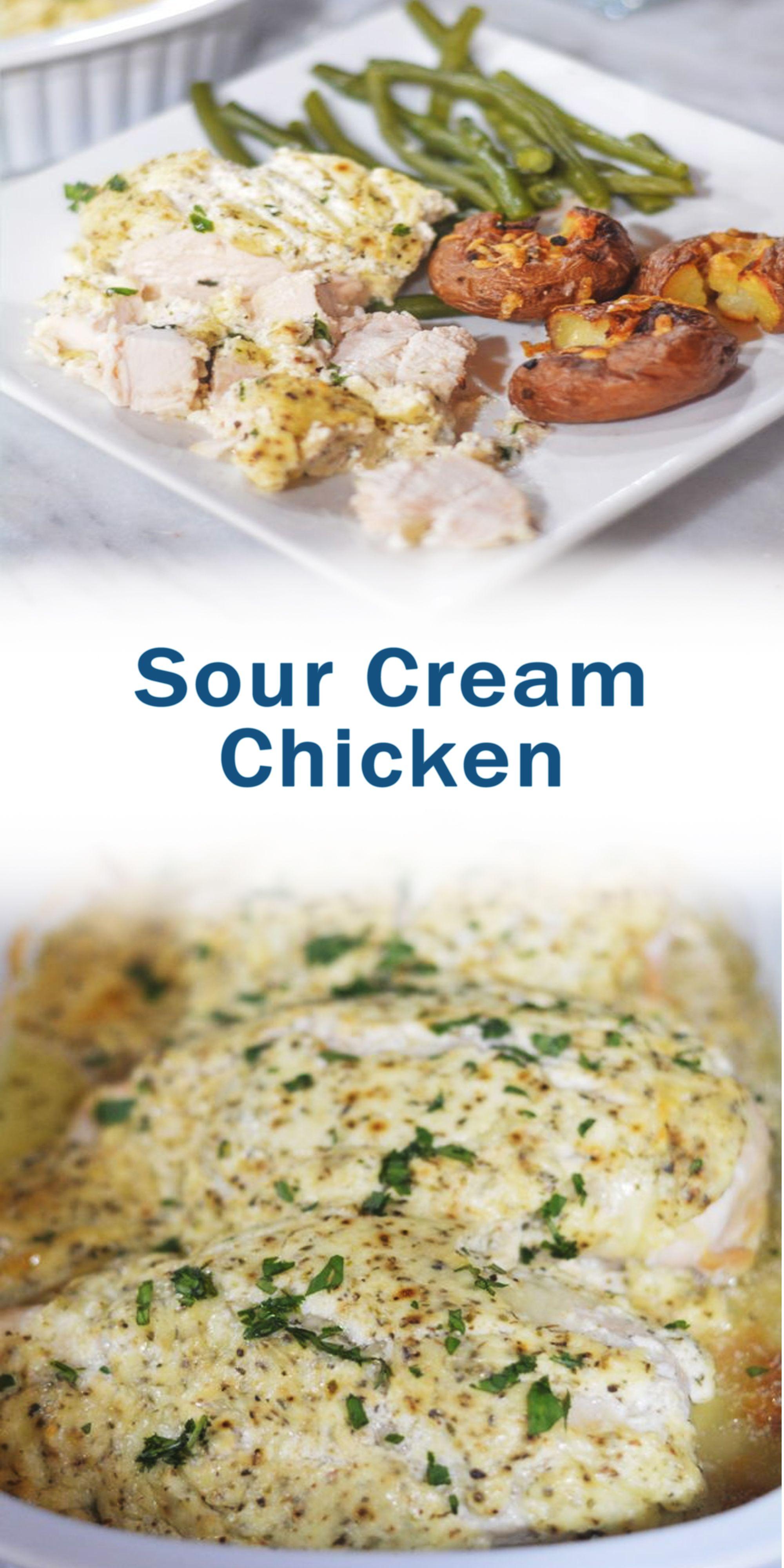 Sour Cream Chicken In 2020 Healthy Chicken Recipes Best Chicken Recipes Chicken Recipes