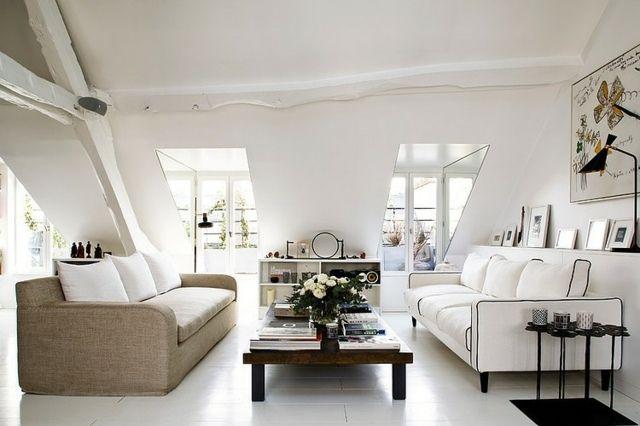 wohnzimmer dachschräge wohnung einrichten ideen | haus | pinterest, Wohnzimmer dekoo