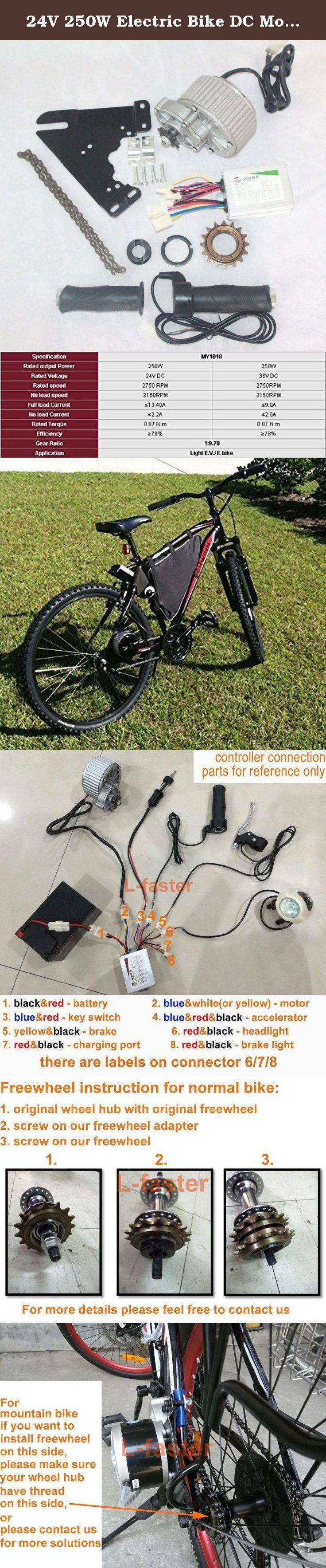 24v 250w Electric Bike Dc Motor Electric Scooter Motor Electric Bicycle Conversion Kit Gear Re Electric Bicycle Conversion Kit Electric Bicycle Bicycle Workout