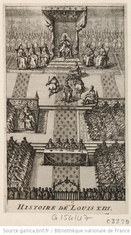 Louis XIII ouvrant le Parlement, 1643, French school Versailles