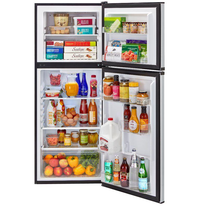 115 cu ft top freezer refrigerator stainless steel