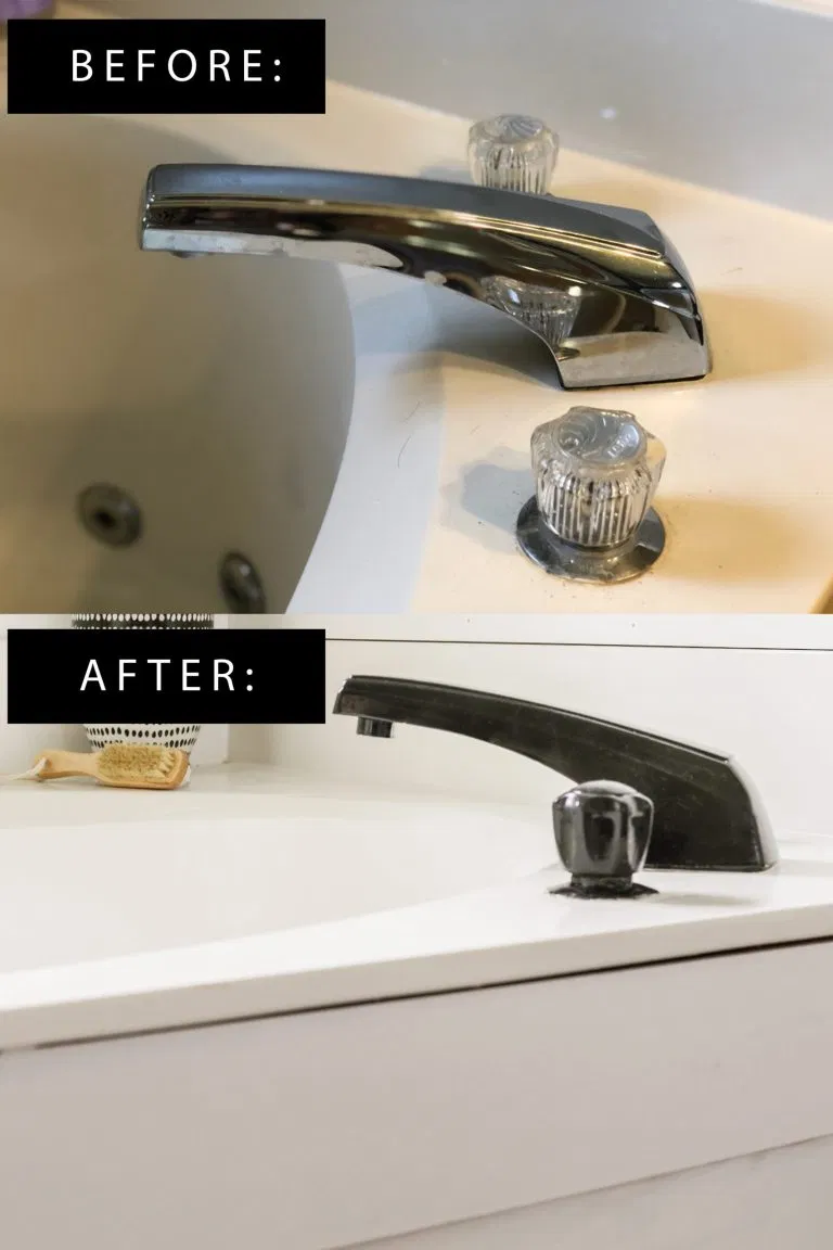 Photo of DIY Faucet Transformation for Under $ 15 – How to Paint a BathTub Filler