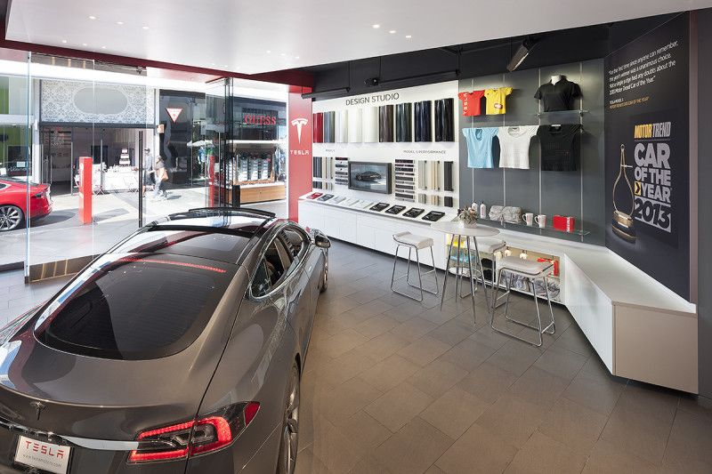 Tesla showroom downtown Beverly Hills the future of the