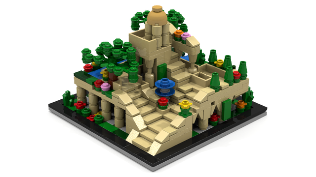 Ancient Wonder The Hanging Gardens Of Babylon Lego Prototype