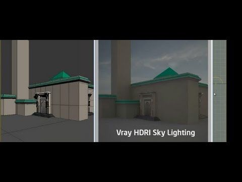 VRay HDRi Sky Lighting Tutorial Vray tutorials, 3ds max