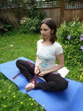 baddha konasana bound angle pose  yoga for seniors