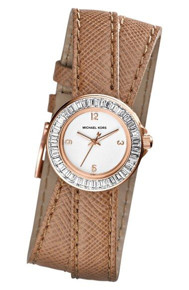 Beautiful #michaelkors leather wrap watch http://rstyle.me/n/kpc3mnyg6