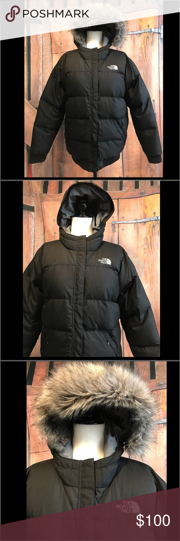 The North Face 550 Puffer Coat w/ detachable hood