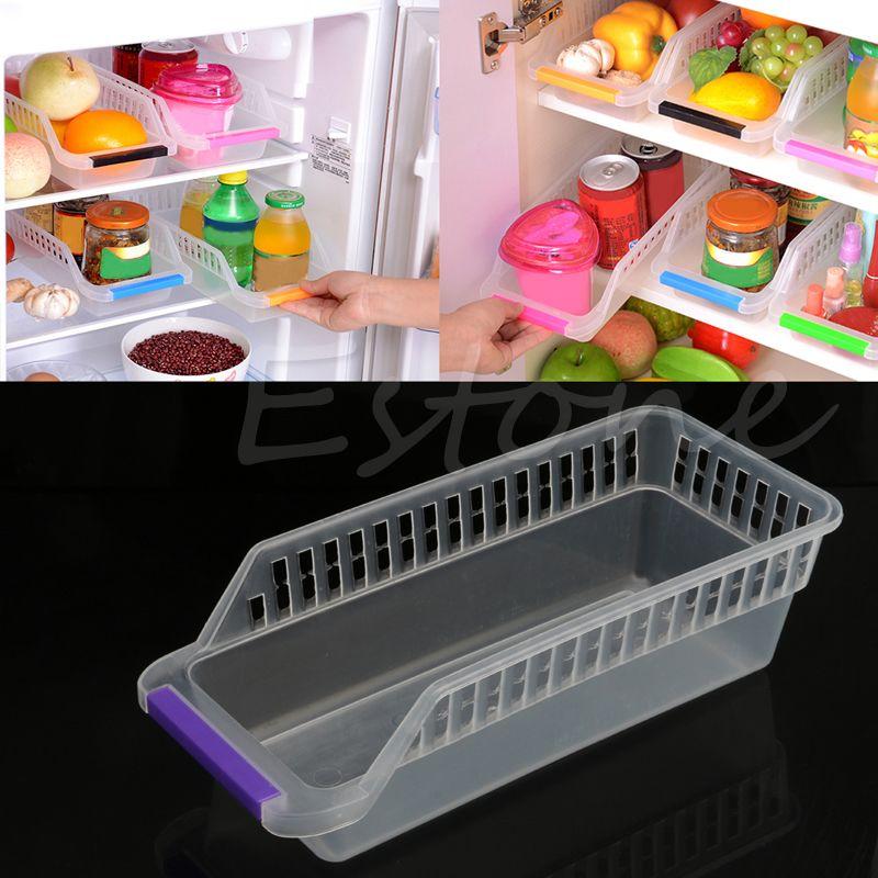 UK Fridge Storage Kitchen Collecting Basket Refrigerator Organiser Rack Holder