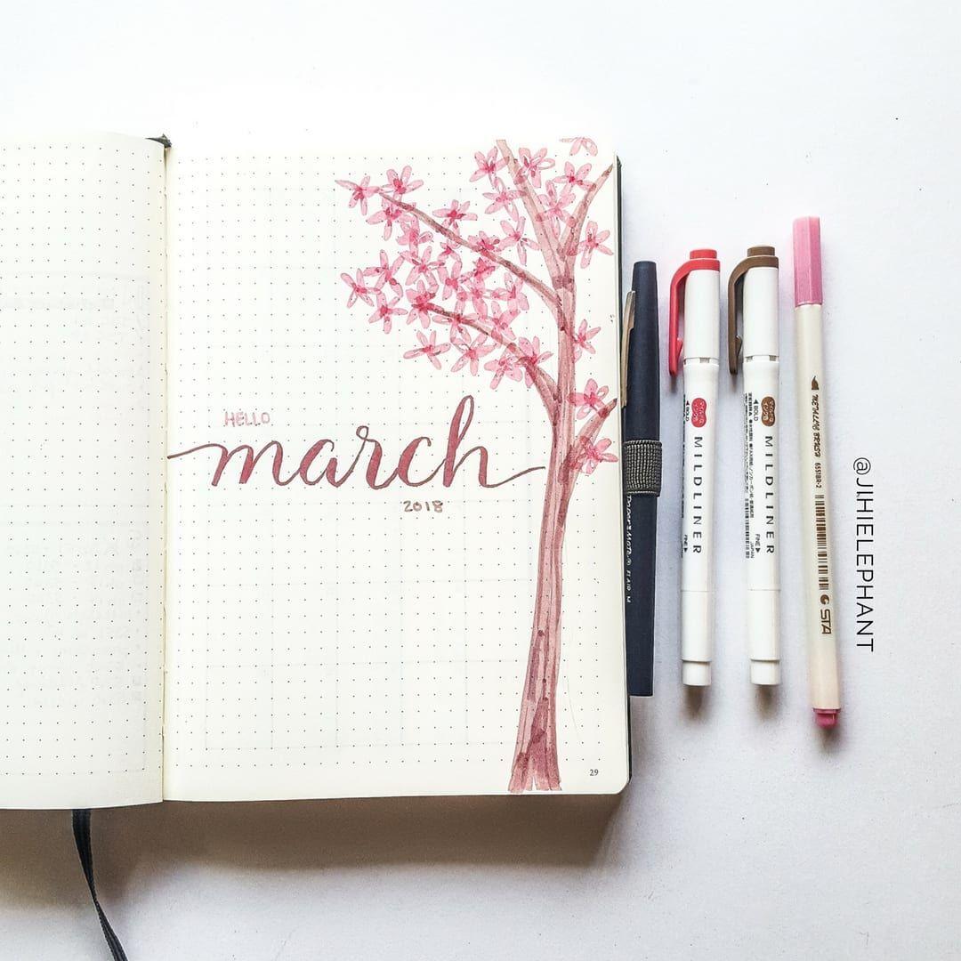 2018 Bullet Journal Overview | Plan-with-Me 2018 Walkthrough | ElizabethJournals